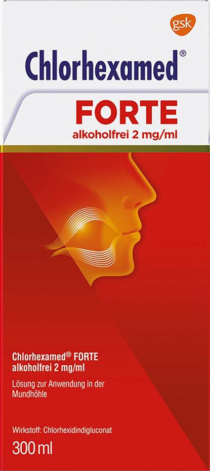 Chlorhexamed Forte alkoholfrei ist ein oberflächenaktives Mund- und Rachen-Antiseptikum (Desinfektionsmittel) mit breitem Wirkungsspektrum und Langzeitwirkung gegen bakterielle Erreger und einer etwas schwächeren Aktivität gegen Pilzerkrankungen. Durch Spülungen mit Chlorhexamed Forte alkoholfrei werden bakterielle Infektionen im Mund- und Rachenraum wirkungsvoll behandelt.