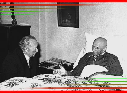 © Marcel Albert 2006 — Jakob Kaiser gehörte neben Konrad Adenauer und Kurt Schumacher zu den herausragenden Politikern der Nachkriegszeit. Er wurde am 8. Februar 1888 in Hammelburg geboren. Nach Buchbinderlehre und Mitgliedschaft im Kolping-Verein wurde er ein bekannter Politiker der Weimarer Republik: seit April 1924 war er Landesgeschäftsführer der Christlichen Gewerkschaften für das Rheinland und Westfalen, seit 1928 auch Mitglied des geschäftsführenden Reichsvorstandes der Deutschen Zentrumspartei und bis 1933 Reichstagsabgeordneter. — Als ehemals führender christlicher Gewerkschafter knüpft Kaiser im Widerstand enge Verbindungen zu Wilhelm Leuschner und Max Habermann. Um ihn sammeln sich Regimegegner, die enge Kontakte zu Carl Goerdeler haben. 1938 mehrmonatige Haft wegen Verdachts des Hoch- und Landesverrats. Nach dem gescheiterten Attentat vom 20. Juli 1944 wird Jakob Kaiser von der Gestapo gesucht. Er taucht unter und überlebt in einem Kellerversteck in Potsdam-Babelsberg, während seiner Tochter Maria in Berlin ebenfalls versteckt lebt. Seine Frau Therese wird mit der zweiten Tochter Elisabeth im Rahmen der Sippenhaft von den Nazis nach Buchenwald deportiert.— 1945 gehört Jakob Kaiser zu den Mitbegründern der Christlich-Demokratischen Union und übernimmt deren Vorsitz für Berlin und die sowjetische Besatzungszone. Er war Mitglied des Vorbereitenden Gewerkschaftsausschusses Groß-Berlin und 1946/47 des FDGB-Bundesvorstands sowie des Landesvorstands Groß-Berlin. Im Dezember 1947 erfolgt durch die sowjetische Besatzungsmacht seine Absetzung, da er sich gegen die »Blockpolitik« und die Teilnahme der Ost-CDU am 1. Deutschen Volkskongreß ausgesprochen hatte.— Von 1946 bis 1949 gehört Kaiser der Berliner Stadtverordnetenversammlung an und vertritt die Stadt im Parlamentarischen Rat in Bonn. 1949 wird Jakob Kaiser als Abgeordneter der CDU in den ersten Bundestag gewählt und zum Minister für Gesamtdeutsche Fragen berufen. Zehn Jahre – zwischen 1948 und 1958 – arbeitet