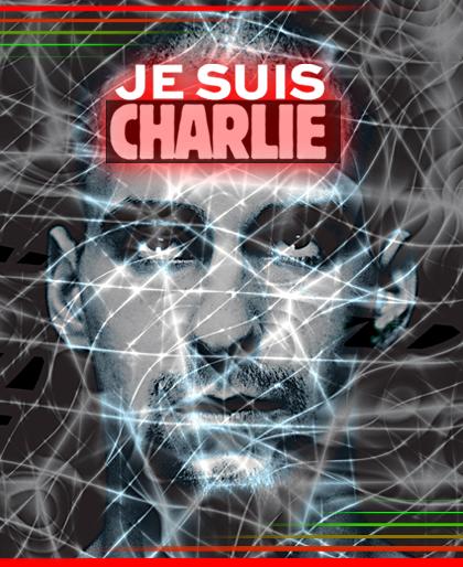 Dieter Telfser 2015 — Je suis Charlie — Diese drei Worte werden millionenfach im Netz geteilt und auf den Straßen hochgehalten. Aus Trauer um die Opfer von Paris, aus Mitgefühl für die Hinterbliebenen und aus Solidarität mit der Satire-Zeitschrift »Charlie Hebdo« – und dem, wofür sie steht: Meinungsfreiheit. — Nous sommes Charlie!