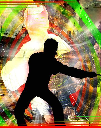 © Dieter Telfser 2006 — No Warries! — Über die Sorgenfreiheit beim Kriege machen. Das Zusammenspiel von Aktion und Reaktion als Schlachtordnung von revitalisierenden Truppen im größerem Maßstab. Strategien, die das Taktische grenzenlos wirken lassen und Verteidigung als liebevolle Weisheit servieren. — Wenn die Junx mit dem Erfolg übertreiben!