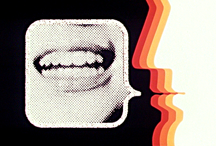 """© Heinrich Landauer 1969 für ORF — © www.tv-design.at 2006 — »Ohne Maulkorb« hiess ein Jugendmagazin des Österreichischen Rundfunks, dass von 1969 bis 1987 auf ORF 2 ausgestrahlt wurde und bis in die angrenzenden bayerischen Regionen empfangen werden konnte. — Der Name war Programm: in aktuellen Reportagen wurde das politische und kulturelle Zeitgeschehen beleuchtet und auch was die Jugendkultur betrifft, war die Sendung immer am Puls der Zeit. z.B. kam hier schon Anfang der 80er Jahre eine Reportage über das gerade aufkommende DJ-Phänomen in New York. Hier konnte man sich hautnah über Hausbesetzer, Anti-Atom-Aktivisten [auch Österreich sollte ja in Zwentendorf einen Reaktor bekommen, was erfolgreich verhindert wurde] und politisch provokante Künstler informieren. Damals noch ein Skandal: der hohe Anteil an »Langhaaradn«, die sich hier öffentlich äußern durften. Hier gab es Künstlerportraits [z.B. ein 80 minütiges Special über Patti Smith am Anfang ihrer Karriere], Konzertmitschnitte [z.B. Zappa in Wien, die Anarchos von Drahdiwaberl], später auch aktuelle Video-Clips, es wurden Filme abseits des Mainstream vorgestellt. — Es lässt sich empirisch nicht belegen, aber Sendungen wie »Ohne Maulkorb« waren sicherlich eine wichtige Quelle subkulturellen Wissens für junge Leute in den 70er und 80er Jahren. — via <a href=""""http://www.sub-bavaria.de/wiki/Ohne_Maulkorb"""">Sub-Bavaria.de</a> — Vom 21.04. bis 20.05.2006 — <b>Positionen des österreichischen TV Designs</b> — Die Entwicklung des österreichischen Fernseh-Designs ist bis heute kaum dokumentiert. Neben den stilbildenden Eigenproduktionen der 70er und 80er [z.B: die Sende-Signets zu TV-Magazinen wie »Trailer« und »Panoptikum« oder die CI Entwürfe der »Ära Sokol«]  markiert das große ORF Re-design Anfang der 90er, umgesetzt von einer Gruppe von Designern um Neville Brody, eine bedeutende, aber nahezu unbekannte, Wende für TV-Design aus Österreich.  In den folgenden Jahren wurden einige der bekanntesten, deutschsprachigen F"""